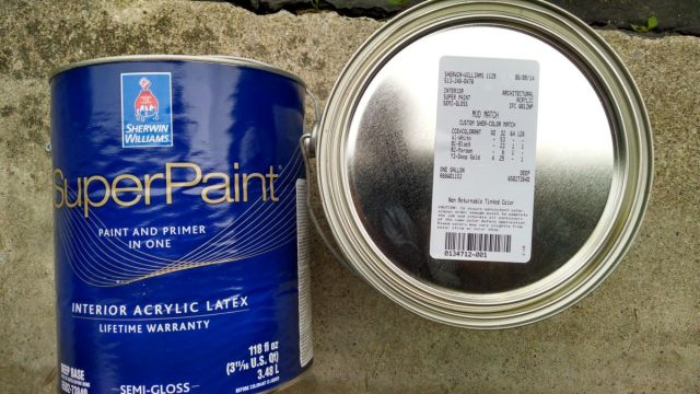 Sherwin Williams paint can