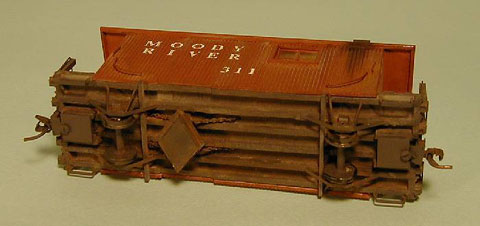 The underside of Tad's model is typical of the detail on all of his models
